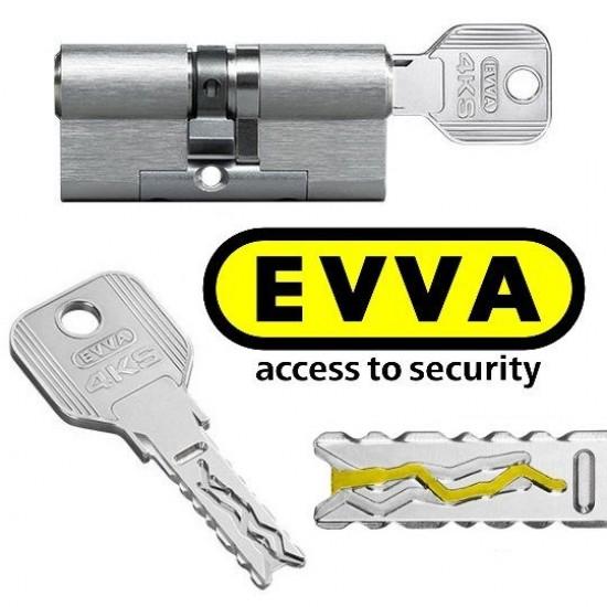 Evva 4ks Plus Κύλινδρος Υψηλής Ασφάλειας με Πατενταρισμένο προφίλ κλειδιού