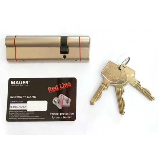Κύλινδρος Ασφαλείας Mauer Red Line Mls με Κλειδί Ασφαλείας