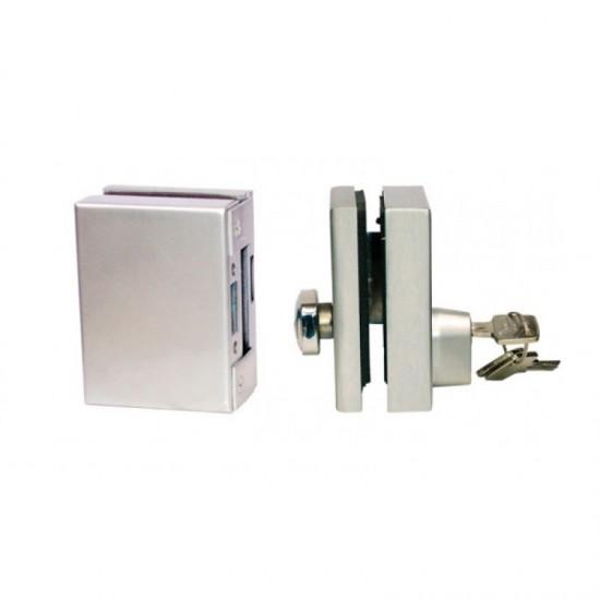 Abus 9470 Πρόσθετη Κλειδαριά Τζαμόπορτας με Διπλό Κλείδωμα και πόμολο εσωτερικά