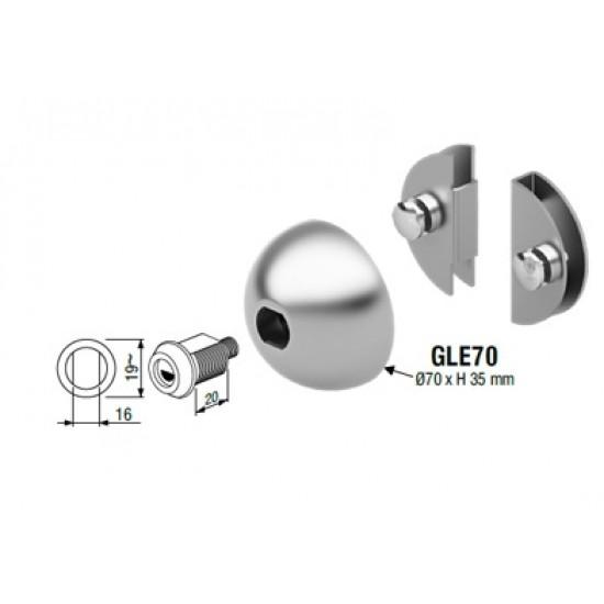 Disec GLE 70 Κλειδαριά Τζαμόπορτας με Κύλινδρο Abloy
