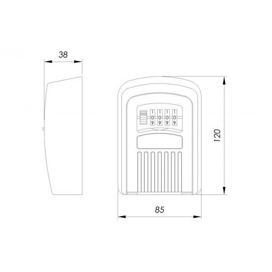 Κλειδοθήκη Tοίχου με Συνδυασμό Ifam G1